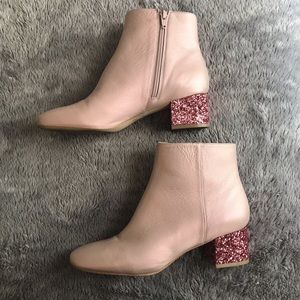 Katy Perry Pink Glitter Boots, size 9.5